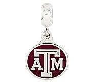 Sterling Silver Texas A & M University Dangle Bead - J315012