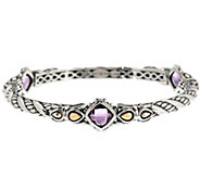 JAI Sukhothai Sterling & 14k Gemstone Bangle - J319812