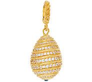 Judith Ripka Sterling & 14K Clad 1.65 cttw Diamonique Egg Charm - J320712