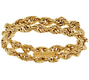 As Is 14K Gold Flexible Woven Band Ring - J322012