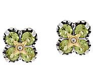 Barbara Bixby Sterling & 18K Gemstone Flower Stud Earrings - J323812