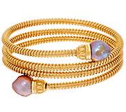 Honora Ming Cultured Pearl Bronze Tubogas Wrap Bracelet - J325812