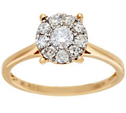Round Cluster Design Diamond Ring, 14K, 1/2 cttw, by Affinity - J329512