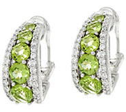 Judith Ripka Sterling Gemstone Tapered Hoop Earrings - J329712