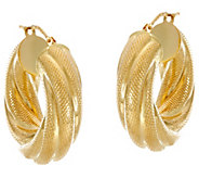 Arte dOro 1 Textured Twisted Hoop Earrings, 18K - J330112