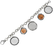 Sterling Silver Israeli Coin Charm Bracelet by Or Paz - J330212