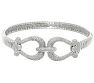 Diamond Omega Bracelet, Sterling, 1/3 cttw, by Affinity - J331012