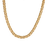 As Is Vicenza Gold 18 Woven Byzantine Necklace 14K Gold, 15.0g - J332712