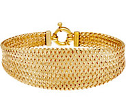 Dieci 8 Braided Mesh Bracelet 10K Gold, 8.6g - J334712