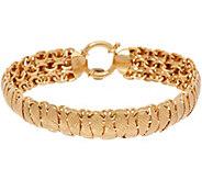 14K Gold 8 Diamond Cut Domed Bracelet, 11.4g - J347512