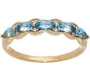 Marquise Santa Maria Aquamarine Band Ring, 14K Gold 0.50 cttw - J350412