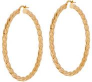 14K Gold 1-1/2 Twisted Hoop Earrings - J350512