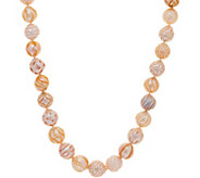 Honora Cultured Pearl Carved Ming 18 Necklace, Sterling - J351912