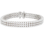 4.60 cttw Triple Row 8 Diamond Tennis Braclet, 14K, Affinity - J352112