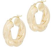 EternaGold Ribbon Hoop Earrings, 14K Gold - J353712