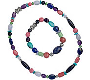 Carolyn Pollack Sterling Bead Bracelet & Necklace Set - J377512