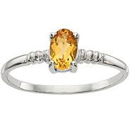 14K White Gold Oval Gemstone Ribbed Ring - J378312