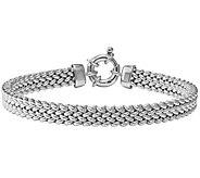 Italian Silver Woven Link Bracelet Sterling, 25.4g - J379712