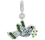 Judith Ripka Sterling Silver Multi-Gemstone Bird Charm - J380912