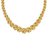 Italian Gold 16 Graduated Circle Link Necklace, 14K - J381912
