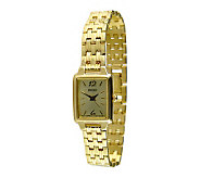 Seiko Ladies Goldtone Bracelet with Square Dial - J104313
