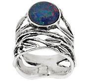 Sterling Silver Australian Opal Triplet Ring by Or Paz - J286313