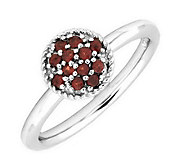 Simply Stacks Sterling Gemstone Cluster Ring - J299213