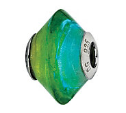 Prerogatives Blue & Green Italian Murano GlassBead - J300213