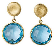 Arte dOro Round Faceted Gemstone Dangle Earrings, 18K Gold - J300613