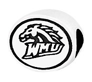 Sterling Silver Western Michigan University Bead - J300713