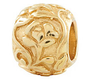Prerogatives Gold-Plated Sterling Floral Bead - J302613