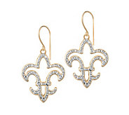 Diamond Fascination Fleur-de-Lis Dangle Earrings, 14K Gold - J304513