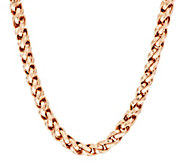 Bronze 18 Bold Polished Twist Link Necklace by Bronzo Italia - J317613