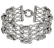 VicenzaSilver Sterling 6-3/4 Woven Status Link Bracelet, 17.7g - J317713