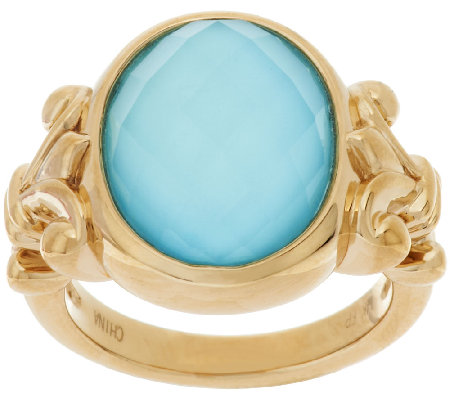 Qvc Turquoise Gold Ring