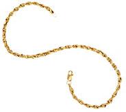 14K Gold 8 Diamond Cut Rope Chain Bracelet - J327313