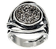 Sterling Silver Bold Drusy Ring by Or Paz - J330213