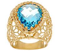 Arte dOro Pear Shape Gemstone Filigree Ring 18K Gold - J334713