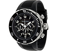 Philip Stein Mens Rubber Strap Active Extreme Chrono Watch - J334813