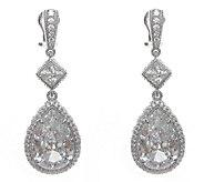 Judith Ripka Sterling 27.60cttw Diamonique Pear Drop Earrings - J336713