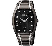 Seiko Mens Two-Tone Black Ion-Finish BraceletWatch - J337513