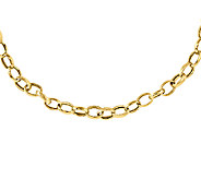 Polished and Textured Link 18 Chain, 14K Gold - J339613