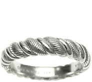 Judith Ripka Sterling Twisted Texture Wide BandRing - J340513