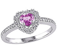 Heart Pink Sapphire & Diamond Ring, 14K Gold - J341613