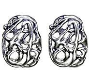 Hagit Sterling Openwork Earrings - J341813