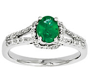 Gemstone and Diamond Ring, 14K White Gold - J342213