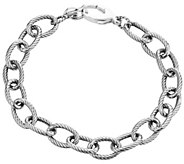 Carolyn Pollack Sterling Oval Rope Link Chain 8 Bracelet - J343613