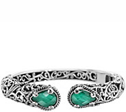 Carolyn Pollack Signature Malachite Doublet Hinged Cuff - J343813
