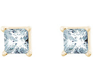 Princess Diamond Stud Earrings, 14K Yellow, 1 cttw,by Affinity - J345013