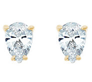Pear Diamond Earrings, 14K Gold, 3/4 cttw, by Affinity - J345213